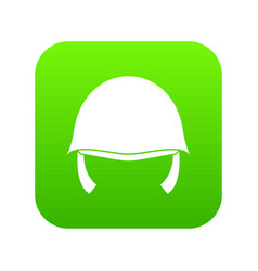 military helmet icon digital green vector image