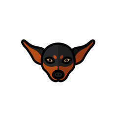 Miniature pinscher dog pet mascot breed head vector