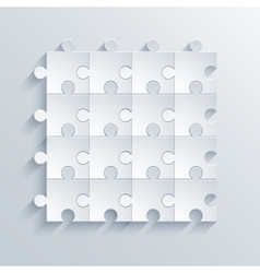 modern puzzle background vector image