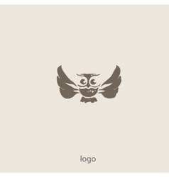 Owl doodle cartoon vector image