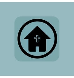 Pale blue christian house sign vector