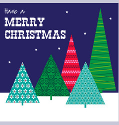 Patterned trees christmas graphic vector