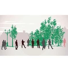 People walking vector image