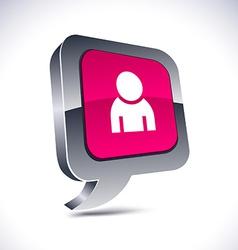 Person 3d balloon button vector image