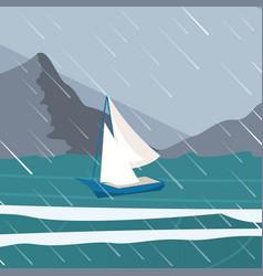 Picture yacht regatta off the coast vector