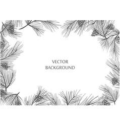 Pine frame vector