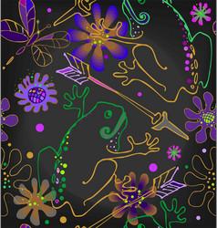 princess frog with an arrow vector image