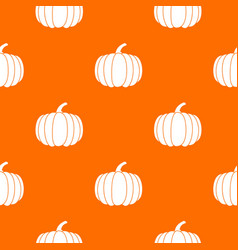pumpkin pattern seamless vector image