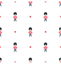 queen guard cute seamless pattern vector image