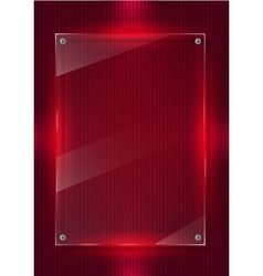 Red digital background and glass panels vector image