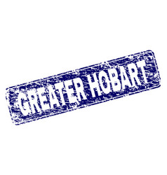 Scratched greater hobart framed rounded rectangle vector