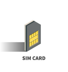 sim card icon symbol vector image