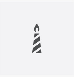 simple candle icon vector image