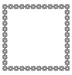 Simple geometric ethnic frame variation 5 vector