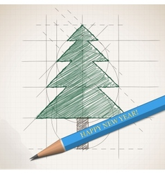 Sketch drawing of Christmas background vector image