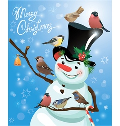 snowman bird 2 380 vector image