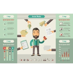 Social Media Infographic Elements vector