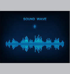 sound wave electronic equalizer vector image