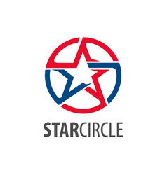 star circle logo concept design circle star vector image
