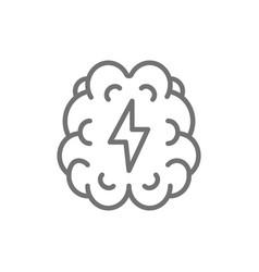 Stroke pain in brain line icon vector
