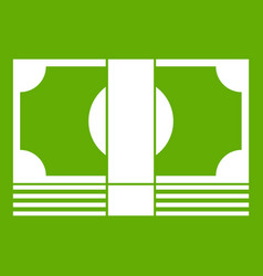 Swiss franc banknote icon green vector