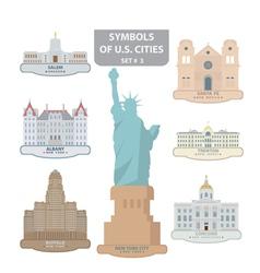 Symbols of US cities vector image