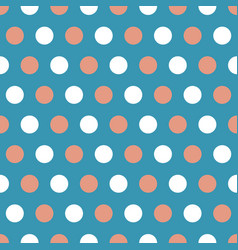 Tan and white polka dots on blue background vector