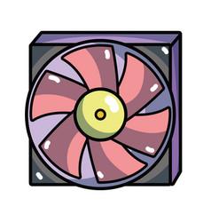 technology hard drive fan processor vector image