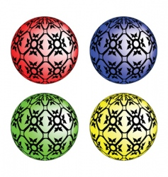 Textured bubbles vector