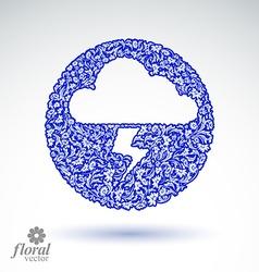 Thunder and lightning meteorology pictogram vector
