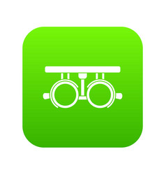 trial frame for checking patient vision icon vector image