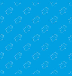 two boots pattern seamless blue vector image