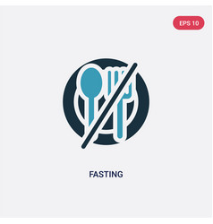 Two color fasting icon from religion-2 concept vector