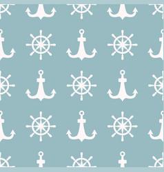 vintage retro anchor badge seamless pattern vector image vector image