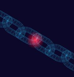Weak chain background vector
