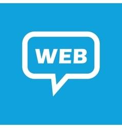 WEB message icon vector image