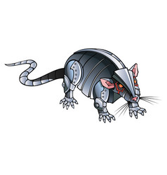 White metal rat vector