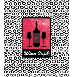 Wine card icon logo menu cover vector