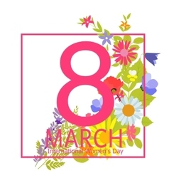 Womens Day Greeting Card 8 March vector