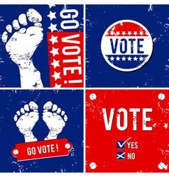 go vote vector image