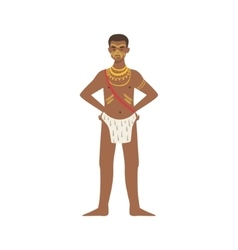 Man In Loincloth From African Native Tribe vector image