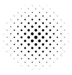 black abstract halftone circle made of dots in vector image