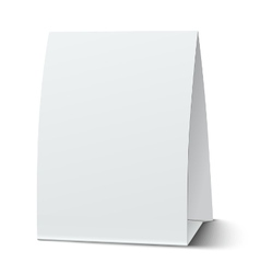 Blank paper table card isolated vector image