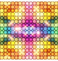 Colorful shining disco lights abstract background vector image