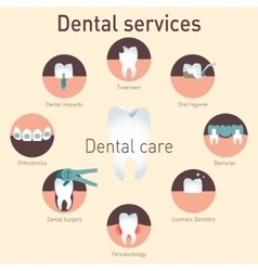 Medical infografics dental services vector