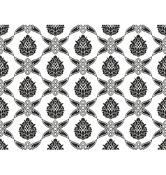 Seamless Damask floral texture vector image vector image