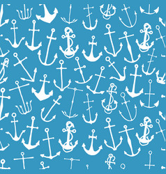 seamless pattern with engraved hand drawn vector image vector image