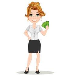 businesswoman 13 vector image vector image
