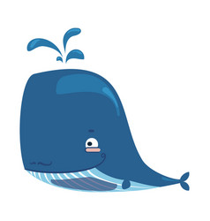 cartoon whale lovely baby whale vector image vector image