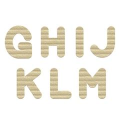 Embossed cardboard Letters vector image